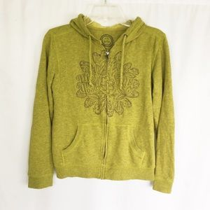 Life is Good green graphic mandala hoodie S